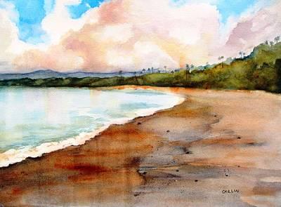Beach House Decor Painting - Aganoa Beach Savai'i by Carlin Blahnik CarlinArtWatercolor
