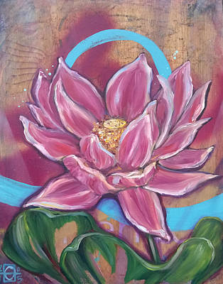 Agape Lotus Art Print by Andrea LaHue