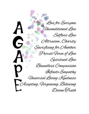 Digital Art - Agape-words Of Love by Judi Saunders