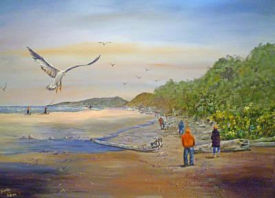 Agate Beach Oregon Painting - Agate Beach by Betty Florea