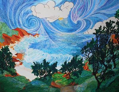 Agate Beach Oregon Painting - Agate Beach Lighthouse by Nellie Smith