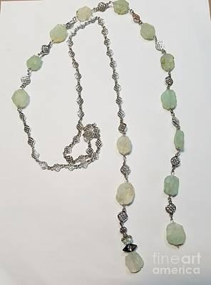 Jewelry - Agate Seafoam Lariat by Diana Bursztein