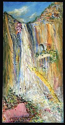 Yosemite National Park Mixed Media - Agate Splash by Barbara Gill