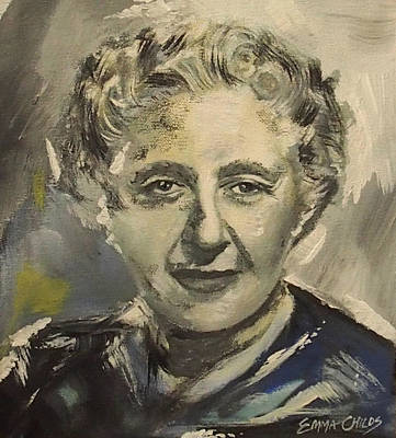 Agatha Christie Art Original by Emma Childs