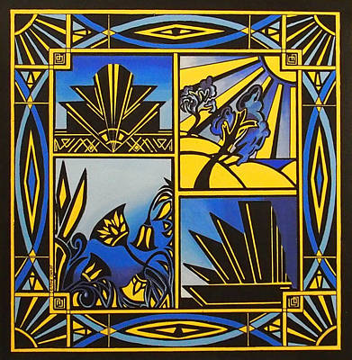 Art Deco In Blue Original