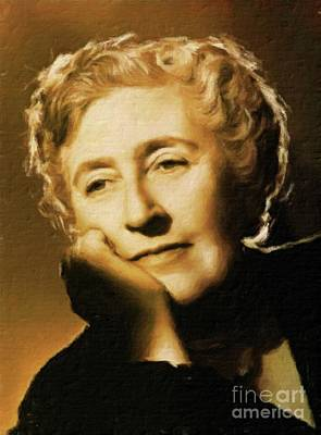 Vintage Painter Painting - Agatha Christie, Literary Legend By Mary Bassett by Mary Bassett