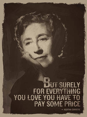 Agatha Christie Quote Art Print by Afterdarkness