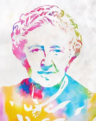 Author Mixed Media - Agatha Christie Watercolor Tribute by Dan Sproul
