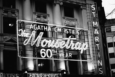 Photograph - Agatha Christie's The Mouse Trap 60th Anniversary by Helga Novelli