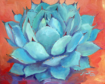 Succulent Painting - Agave 3 by Athena  Mantle
