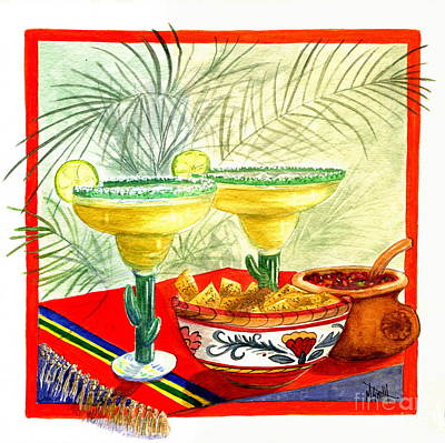 Tortillas Painting - Agave Amigos by Marilyn Smith
