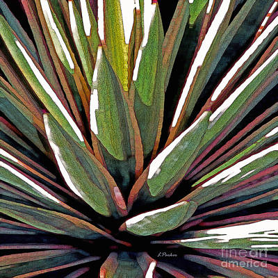 Contemporary Abstract Digital Art - Agave Impressions 1 by Linda  Parker