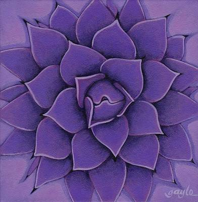 Painting - Agave In Violet by Gayle Faucette Wisbon