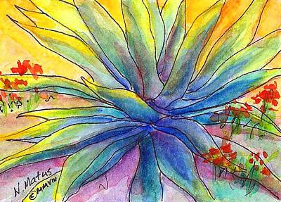 Agave Art Print by Nancy Matus