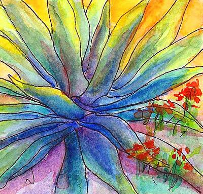 Painting - Agave Squared by Nancy Matus