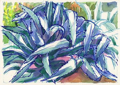 Painting - Agave Tangle by Judith Kunzle