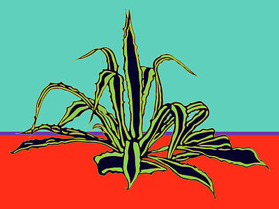 Digital Art - Agave Varigated by Sandra Selle Rodriguez