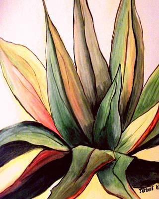 Yucatan Painting - Agave Yucatan V by Jacquie King