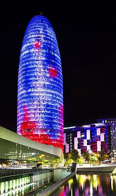 Agbar Tower In Barcelona Art Print by Marc Garrido