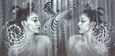 Wall Art - Painting - Age And Ion by Alicia Post