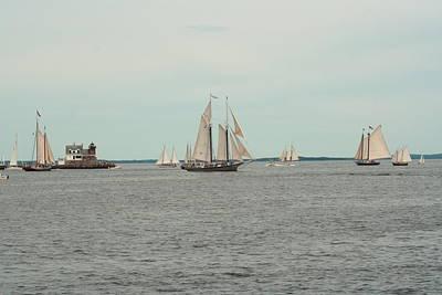 Age Of Sail Rockland Breakwater Original by Doug Mills