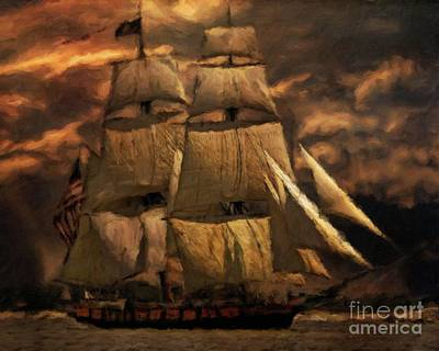 Sailer Painting - Age Of The Tall Ship By Sarah Kirk by Sarah Kirk
