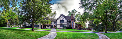 Photograph - Agecroft Hall Panorama Hdr by Greg Reed