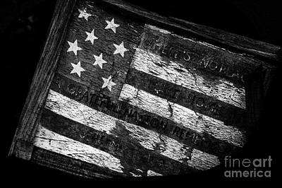 Photograph - Aged American Flag by Jim Corwin