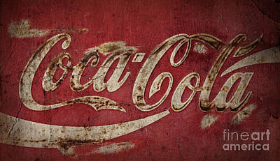 Old Coke Sign Wall Art - Photograph - Aged Coca Cola Image by John Stephens