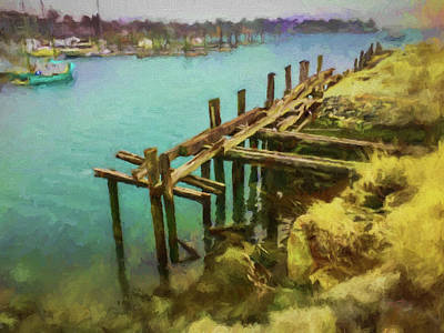 Painting - Aged Docks From Winthrop by Thomas Logan