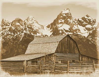 Photograph - Aged Moulton Barn Grand Teton National Park by Dan Sproul