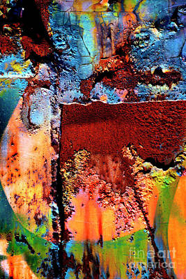 Photograph - Aged Railroad Sign Paint - 2 by Paul W Faust - Impressions of Light