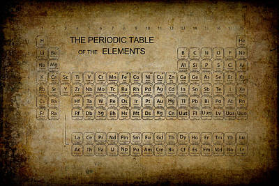 Lab Digital Art - Aged To Perfection Periodic Table by Daniel Hagerman