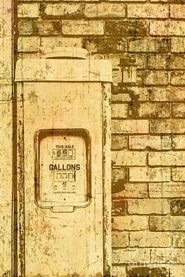 Photograph - Aged Yellowed Vintage Photo Of A Gas Pump by Jorgo Photography - Wall Art Gallery