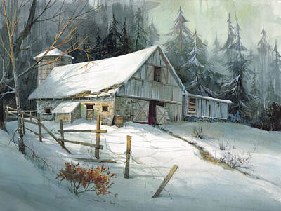 Rustic Barn Painting - Ageless Beauty by Michael Humphries