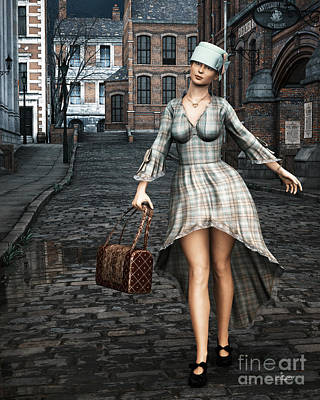 Old Town Digital Art - Ageless Fashion by Jutta Maria Pusl