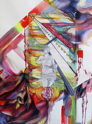 Ageless Painting - Ageless - Original Watercolor Pencil Ink by Brooks Garten Hauschild
