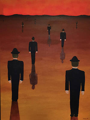 Agents Orange Art Print by Thomas Blood