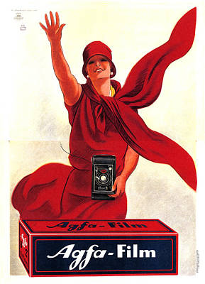 Vintage Camera Mixed Media - Agfa Film - Vintage Advertising Poster by Studio Grafiikka