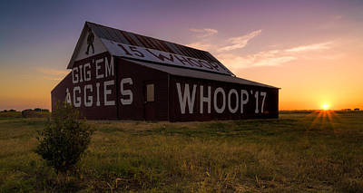 Aggie Sunset Art Print by Jonathan Davison