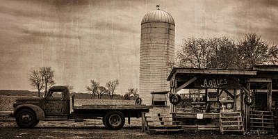 Aggie's Farm Stand Art Print by Louise Reeves