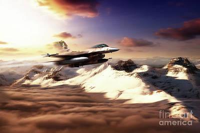 F-16 Digital Art - Aggressor Speed by J Biggadike