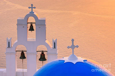 Agios Photograph - Aghioi Theodoroi Church At Firostefani, Santorini by Henk Meijer Photography