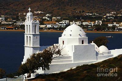Photograph - Agia Irini Church Ios Greece by Bob Christopher