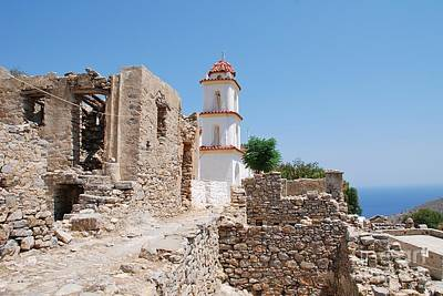 Photograph - Agia Zoni Church On Tilos by David Fowler