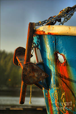 Photograph - Aging Anchor by Adam Jewell