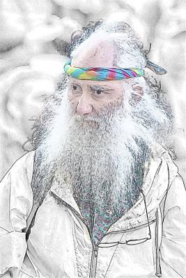 Digital Art - Aging Boomer by John Haldane