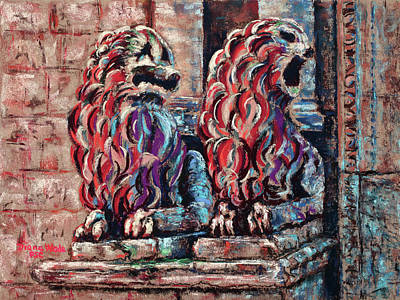 Painting - Aging Sentinels by Diana Wade