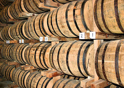 Wine Barrel Photograph - Aging The Whisky by Kristin Elmquist