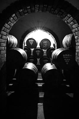 Wine Barrel Photograph -  Aging Wine - Columbia South America by Daniel Hagerman